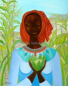 'Seed of Life', oil on canvas by Janice Sylvia Brock