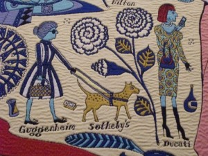 Detail of Walthamstow Tapestry by Grayson Perry
