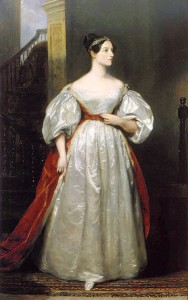 Here is Ada, Countess of Lovelace painted in 1836 by Margaret Carpenter (1793-1872). The painting belongs to the British government and is currently located at the #10 Downing Street residence in London