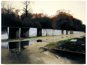 Scenes from the Passion: The Fall, 1999, copyright George Shaw, courtesy Wilkinson Gallery, London. (From the Herbert Gallery website)