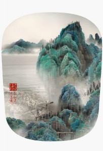 Yang Yongliang, Viridescence, Pages 2, 44 x 44cm, Epson Ultragiclee print on Epson textured fine art paper, 2009