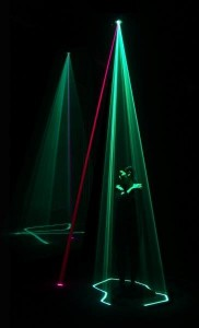 Usman Haque, Assemblance, a 3D interactive light field, 2014.  Image courtesy of Umbrellium, reproduced with permission.