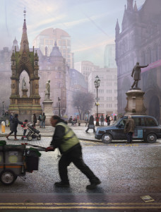 Emily Allchurch, Albert Square, Manchester (after Valette), 2015. Collection of Manchester Art Gallery ? Emily Allchurch